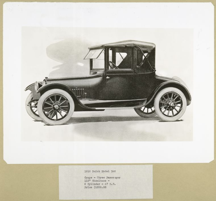 1916 Buick Model D46 . Coupe - three passenger.