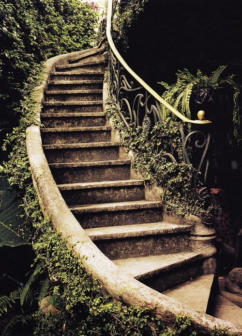 Ancient Garden Stairs, Tuscany, Italy